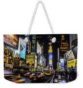 Times Square Traffic Weekender Tote Bag