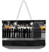 Times Square Yellow Sunday Morning Weekender Tote Bag