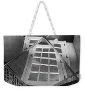 Time's Up - Black And White Weekender Tote Bag