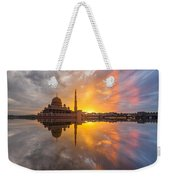 Timeslice A Day To Night Of By The Lake Weekender Tote Bag