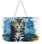 Timid Kitten Weekender Tote Bag