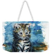 Timid Kitten Weekender Tote Bag
