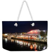 Tin City At Night -naples Fl Weekender Tote Bag