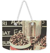 Tin Signs And Coffee Shops Weekender Tote Bag