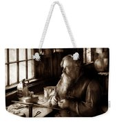 Tin Smith - Making Toys For Children - Sepia Weekender Tote Bag