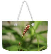 Tiny Bee On Wildflower Weekender Tote Bag