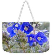 Tiny Blue Floral Weekender Tote Bag