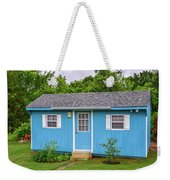 Tiny Blue House Weekender Tote Bag