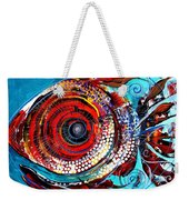 Tiny Blue Pill Weekender Tote Bag
