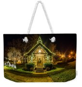 Tiny Chapel With Lighting At Night Weekender Tote Bag