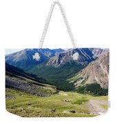 Tiny Hikers On The Mount Massive Summit Weekender Tote Bag