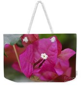 Tiny Little White Flower Weekender Tote Bag