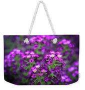 Tiny Purple Flowers Weekender Tote Bag