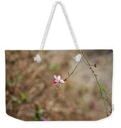 Tiny Red And White Wildflowers Weekender Tote Bag