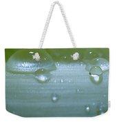 Tiny Water Drops On Stipe Weekender Tote Bag
