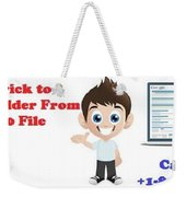 Tips And Trick To Recover Folder From Windows 10 File Explorer Weekender Tote Bag