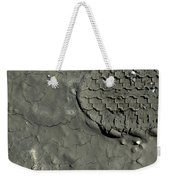 Tire Track In Gray Mud Weekender Tote Bag