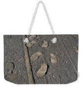 Tire Tracks And Foot Prints Weekender Tote Bag
