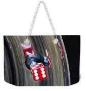 Tire Valve Stem With Red Die Weekender Tote Bag