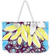 Tired Turtle With Bananas And Blooms Weekender Tote Bag
