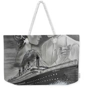 Titanic Drawing With Kate And Leonardo Weekender Tote Bag