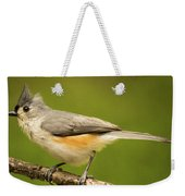 Titmouse With Bad Hairdo 3 Weekender Tote Bag