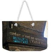 To Create Is To Remember Weekender Tote Bag