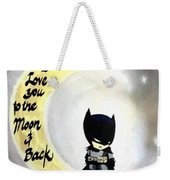 To The Moon And Back Weekender Tote Bag
