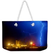 To The Right Budweiser Lightning Strike Weekender Tote Bag by James BO  Insogna