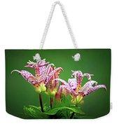 Toad Lilies Weekender Tote Bag
