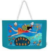 Toadstool Fairy Flies Again Weekender Tote Bag