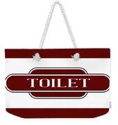 Toilet Station Name Sign Weekender Tote Bag