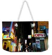 Late Night Alley Weekender Tote Bag