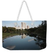 Tokyo Highrises With Garden Pond Weekender Tote Bag