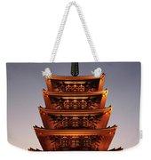 Tokyo Temple Lights At Dusk Weekender Tote Bag