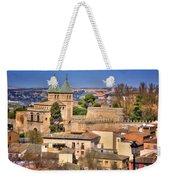 Toledo Town View Weekender Tote Bag by Joan Carroll