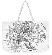 Tolkien Style Map Of Snowflakes Weekender Tote Bag