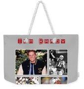 Tom Brady Football Goat Weekender Tote Bag