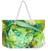 Tom Waits - Watercolor Portrait.5 Weekender Tote Bag
