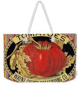 Tomato Can Label Weekender Tote Bag