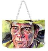 Tommy Lee Jones Portrait Watercolor Weekender Tote Bag