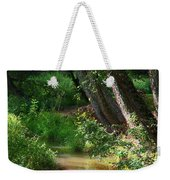 Toms Creek In Late Summer Weekender Tote Bag