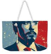 Tony Stark Weekender Tote Bag by Caio Caldas