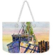 Tonyo Shrimp Boat Weekender Tote Bag