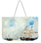 Too Close To Shore Weekender Tote Bag
