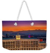 Top Of The Bellagio After Sunset Weekender Tote Bag