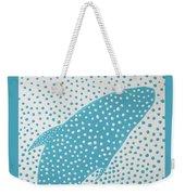 Top Of The Dotted Whale Weekender Tote Bag by Deborah Boyd