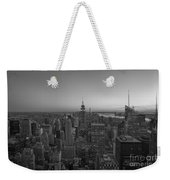 Top Of The Rock At Sunset Bw Weekender Tote Bag