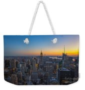 Top Of The Rock At Sunset Weekender Tote Bag