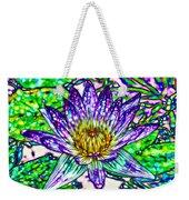 Top View Of A Beautiful Purple Lotus Weekender Tote Bag